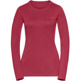 VAUDE Sveit Langærmet T-shirt Damer rød